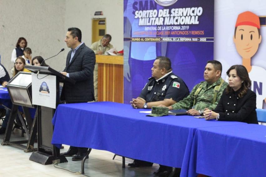SE REALIZA SORTEO MILITAR NACIONAL 2019 EN MINERAL DE LA REFORMA
