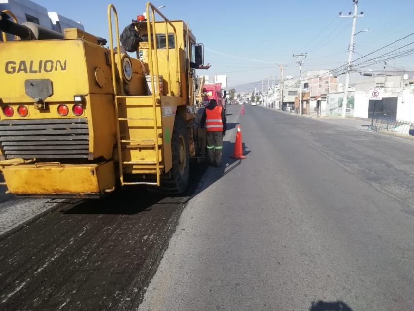 SOPOT  continúa con la rehabilitación de vialidades en Pachuca