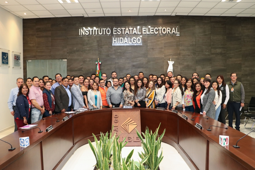 Participa personal del IEEH en curso-taller sobre Oficialía Electoral.