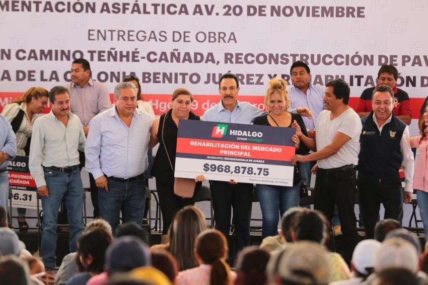 ENTREGA FAYAD OBRAS EN MIXQUIAHUALA POR UN MONTO DE 25.5 MDP