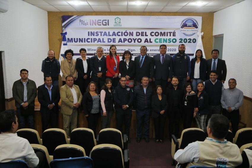SE INSTALA EN MINERAL DE LA REFORMA, COMITÉ DE APOYO PARA EL CENSO 2020 DEL INEGI