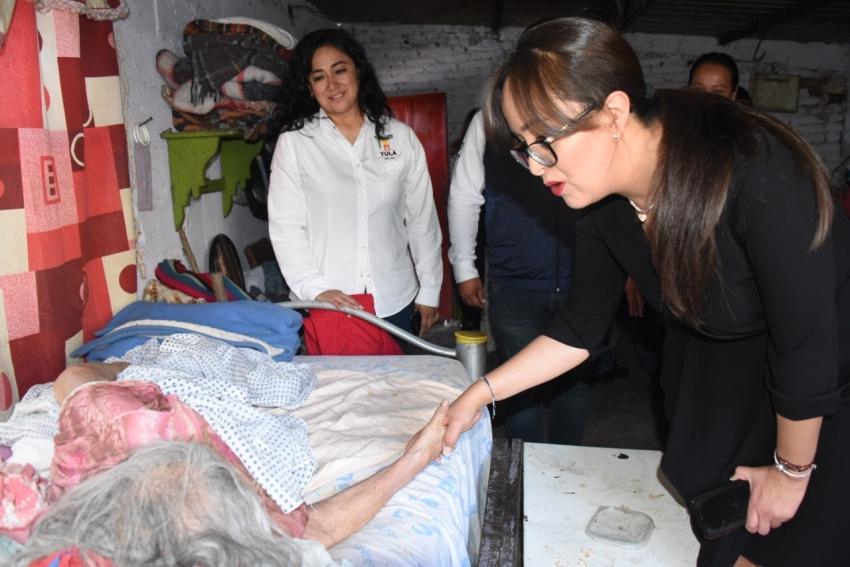 Se brinda atención integral y seguimiento a caso de Adultos mayores en la Malinche