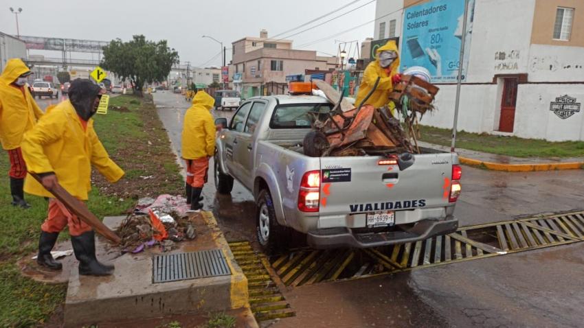 Trabajos de limpieza derivado de la lluvia