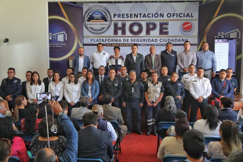 """PRESENTA ALCALDE RAÚL CAMACHO BAÑOS, APP """"HOPE AYUDA CIUDADANA"""" PARA SEGURIDAD DE LAS Y LOS MINERALREFORMENSES"""
