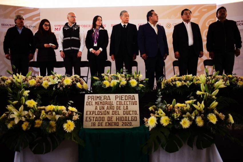 GOBIERNOS FEDERAL Y ESTATAL PARTICIPARON EN REMEMBRANZA COLECTIVA, A UN AÑO DE LA EXPLOSIÓN EN TLAHUELILPAN