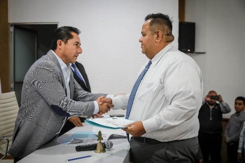 RINDE PROTESTA ANTE AYUNTAMIENTO NUEVO SECRETARIO DE SEGURIDAD PÚBLICA Y TRÁNSITO MUNICIPAL